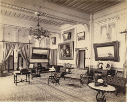 Interior, Makarpura Palace, Drawing Room, Baroda